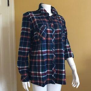 Natural Reflections plaid flannel shirt (c) XL
